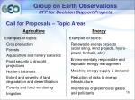 group on earth observations cfp for decision support projects13