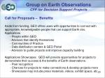 group on earth observations cfp for decision support projects18