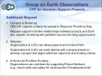 group on earth observations cfp for decision support projects6
