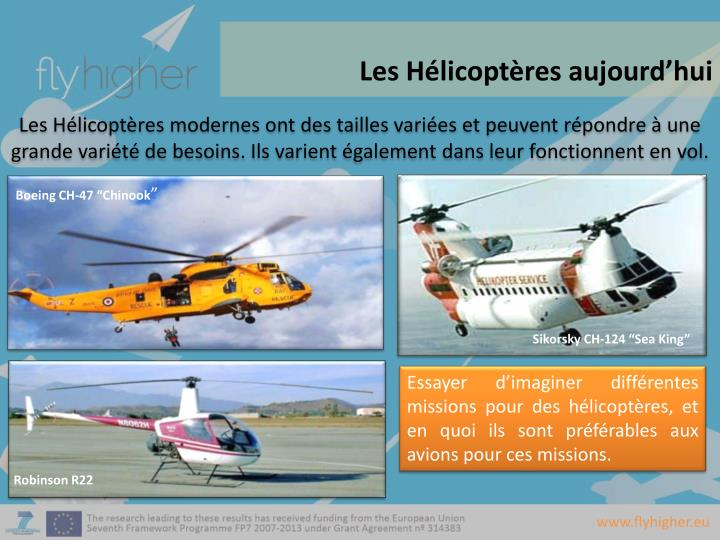 Les Hélicoptères aujourd'hui