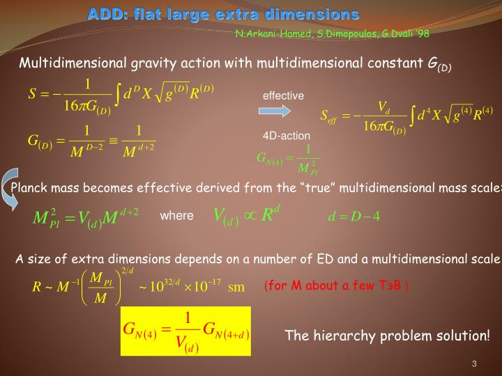 Add flat large extra dimensions