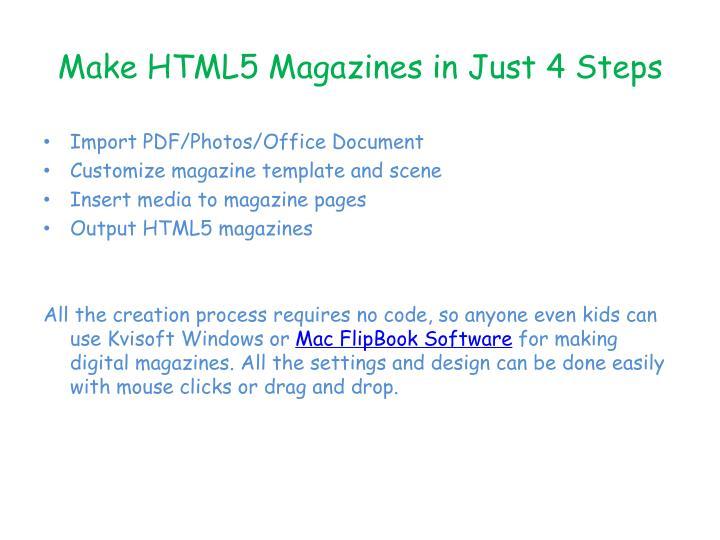 Make HTML5 Magazines in Just 4 Steps