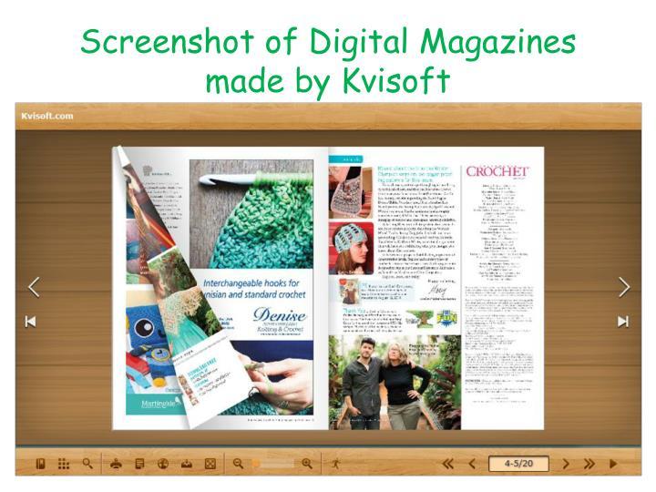 Screenshot of digital magazines made by kvisoft