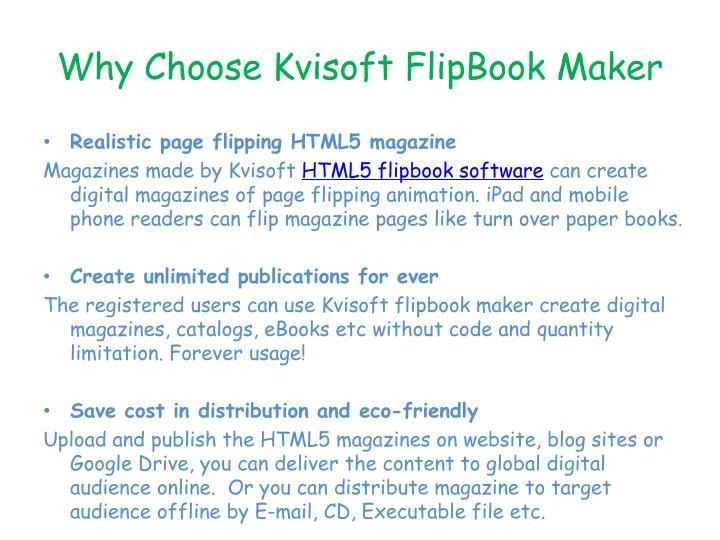 Why Choose Kvisoft FlipBook Maker
