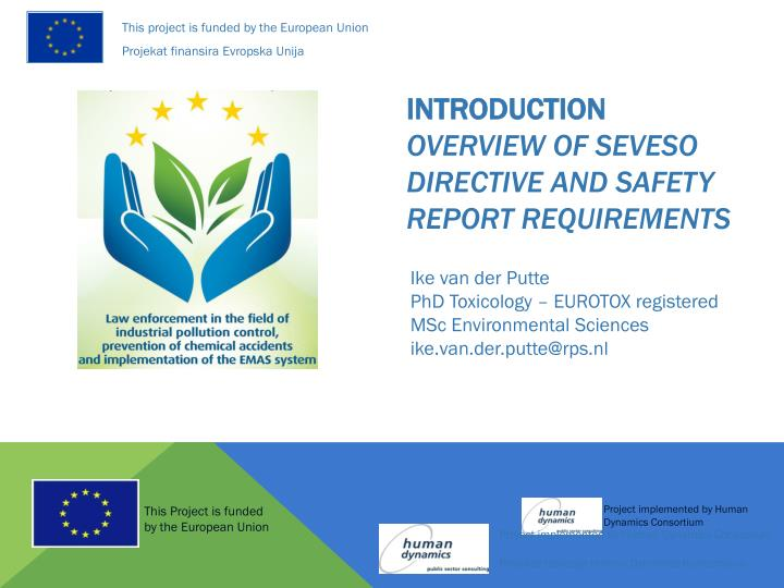 introduction overview of seveso directive and safety report requirements n.
