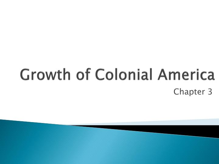 growth of colonial america n.