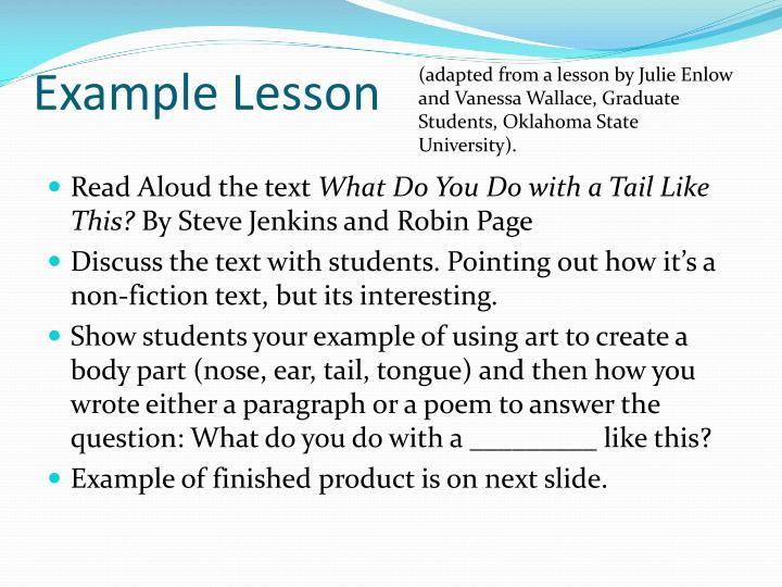 (adapted from a lesson by Julie