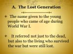 a the lost generation