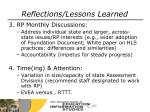 reflections lessons learned1