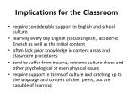 implications for the classroom1