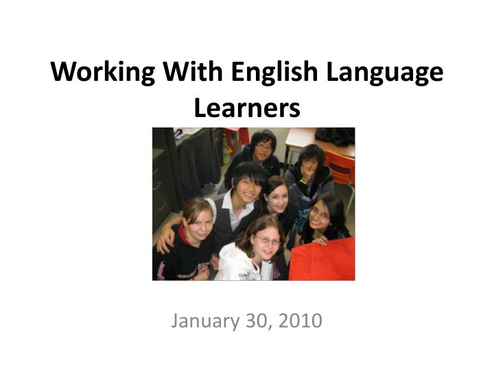 working with english language learners n.