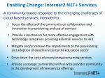 enabling change internet2 net services