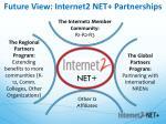 future view internet2 net partnerships