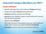 internet2 campus members are net