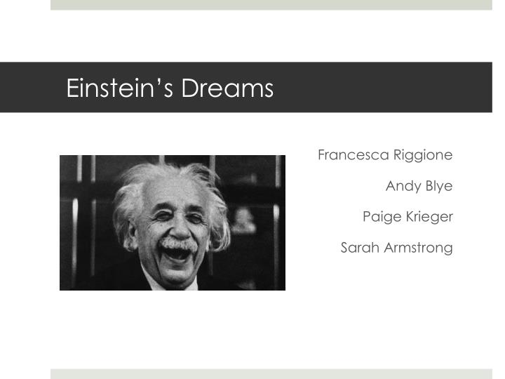 einstein s dreams n.
