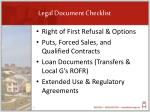 legal document checklist