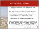 loan document provisions
