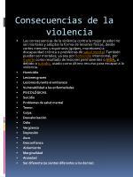 consecuencias de la violencia