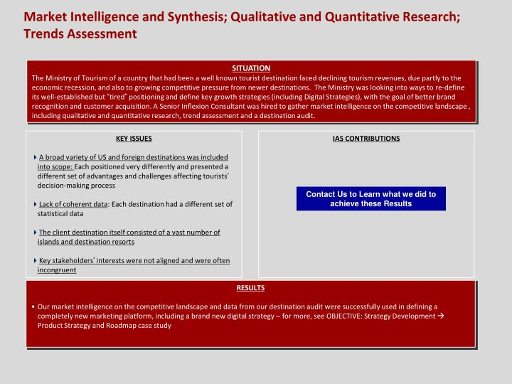 market intelligence and synthesis qualitative and quantitative research trends assessment n.