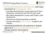 cpd postgraduate courses