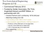 new geotechnical engineering programs @ uq