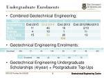 undergraduate enrolments1