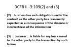 dcfr ii 3 109 2 and 3