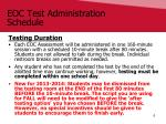 eoc test administration schedule2