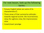 for next lesson look up the following terms