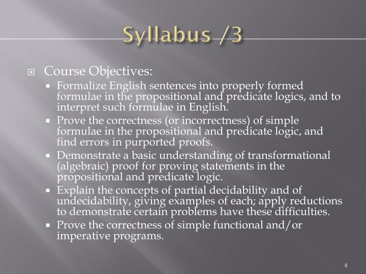Syllabus /3