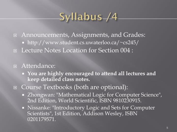 Syllabus /4