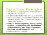 original sin and redemption