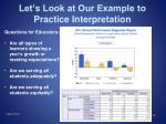 let s look at our example to practice interpretation