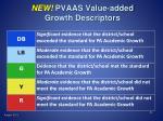 new pvaas value added growth descriptors