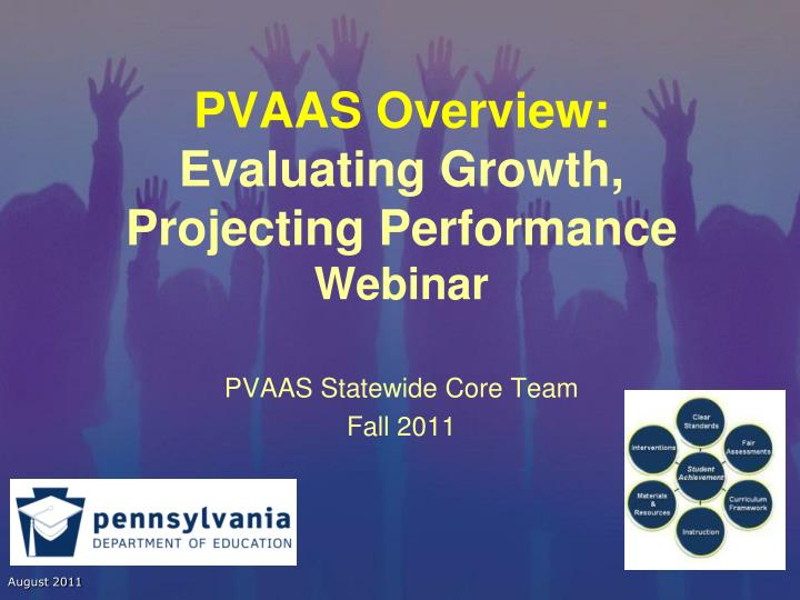 pvaas overview evaluating growth projecting performance webinar n.