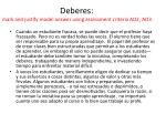 deberes mark and justify model answer using assessment criteria ao2 ao3