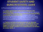student safety and guns in school cont d1