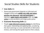 social studies skills for students