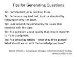 tips for generating questions