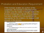 probation and education requirement1