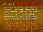 saf c 5903 14 immediate suspension