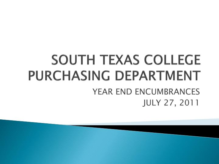south texas college purchasing department n.