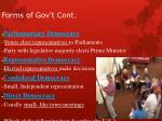 forms of gov t cont