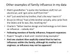 other examples of family influence in my data