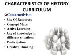 characteristics of history curriculum5