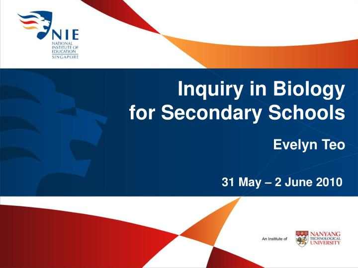 Inquiry in Biology