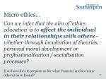 micro ethics