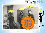 rsa en 1977