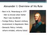 alexander i overview of his rule