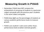 measuring growth in pvaas